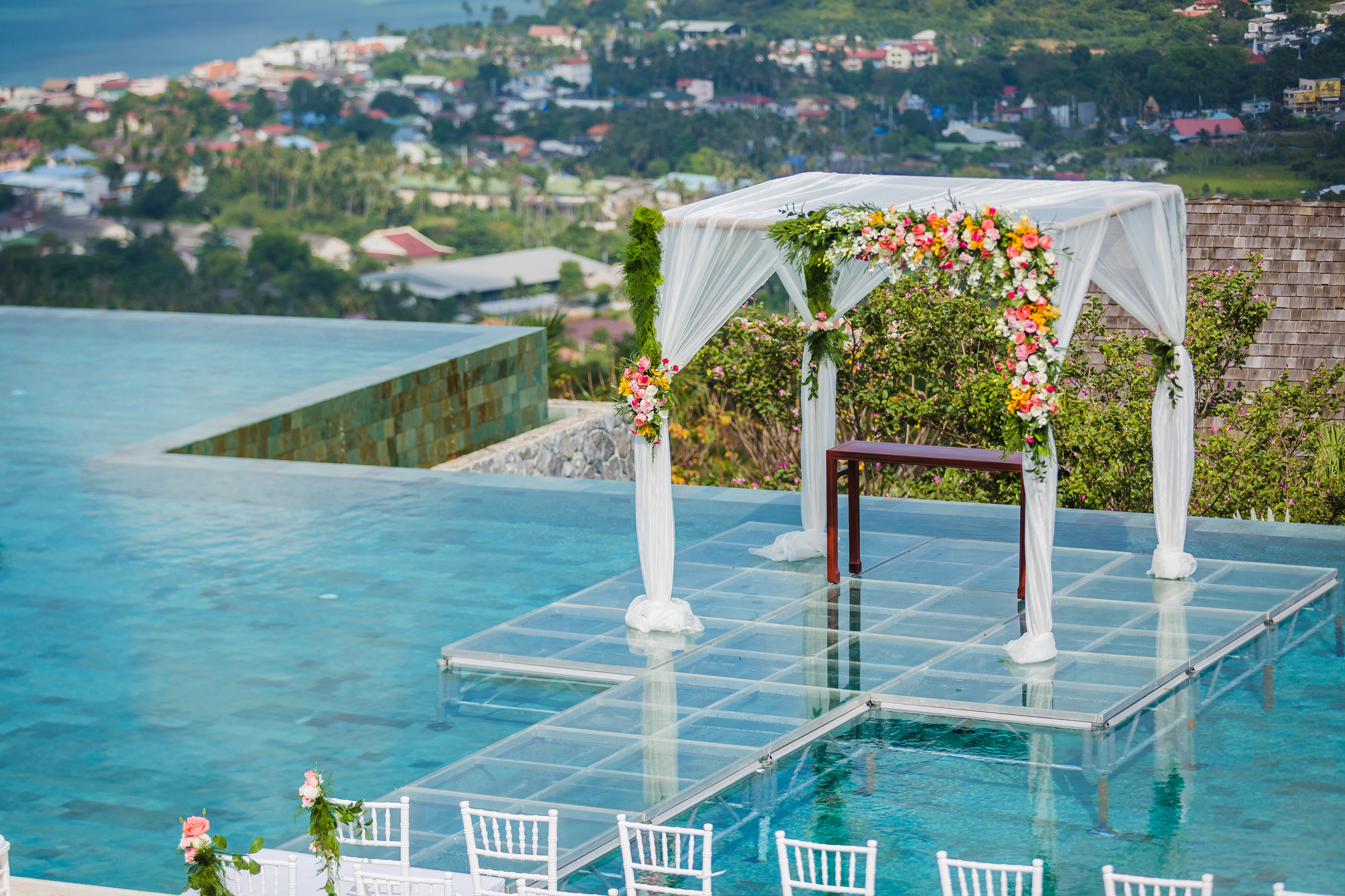 Over The Water Wedding Doesn T Necessarily Have To Be Looking Ocean This Took Place In A Private Villa